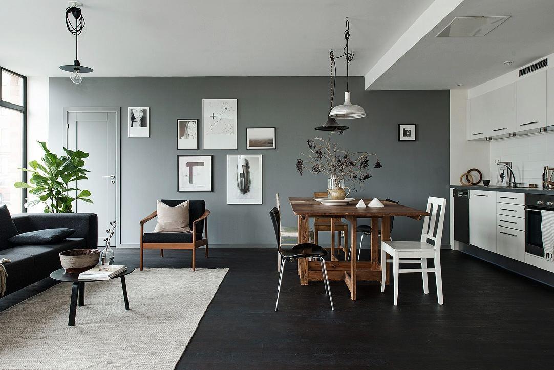摩登北欧风格二室一厅设计效果图