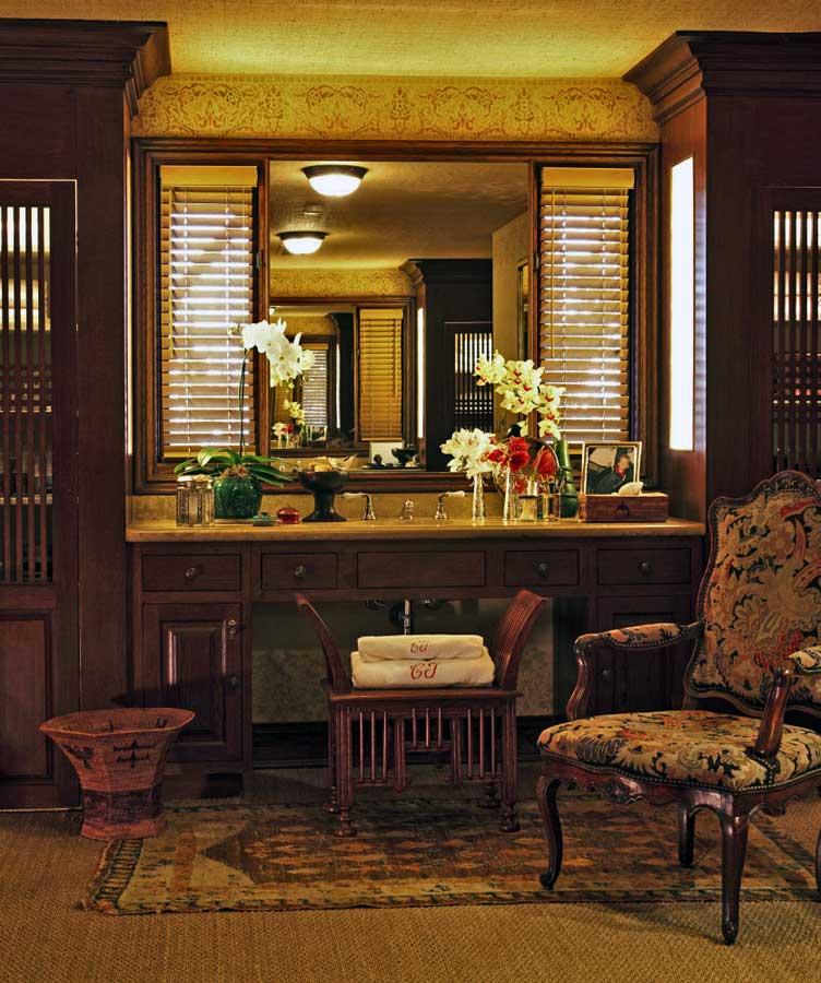 复古美式风格室内梳妆台设计装潢图片