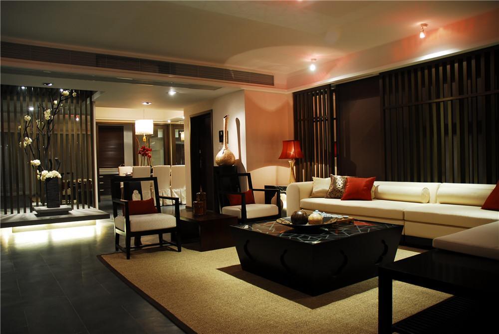 静谧东南亚风格客厅设计装潢欣赏图