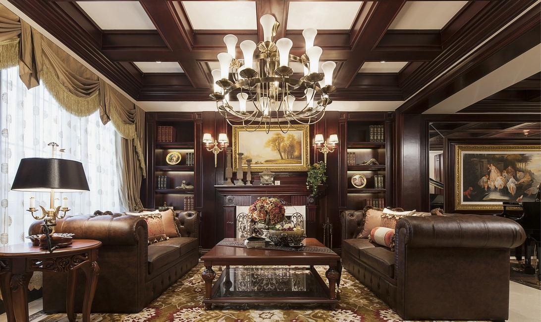 华贵古典欧式装修风格四室一厅案例图