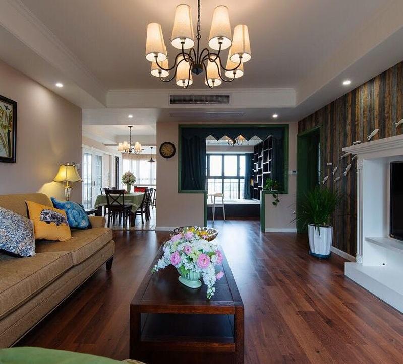 复古田园欧式风格室内客厅装修图片