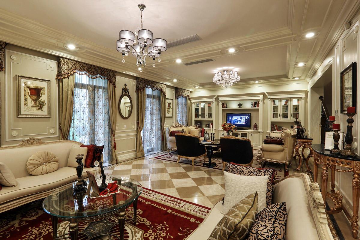 大气奢华白色欧式大客厅效果图