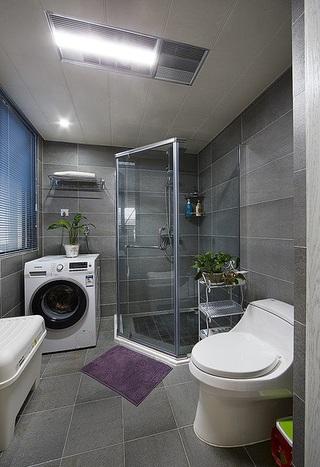 灰色系现代风格卫生间装修效果图