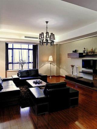 低奢现代中式别墅客厅效果图