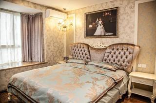 欧式豪华装修设计风格卧室飘窗大理石台面效果图