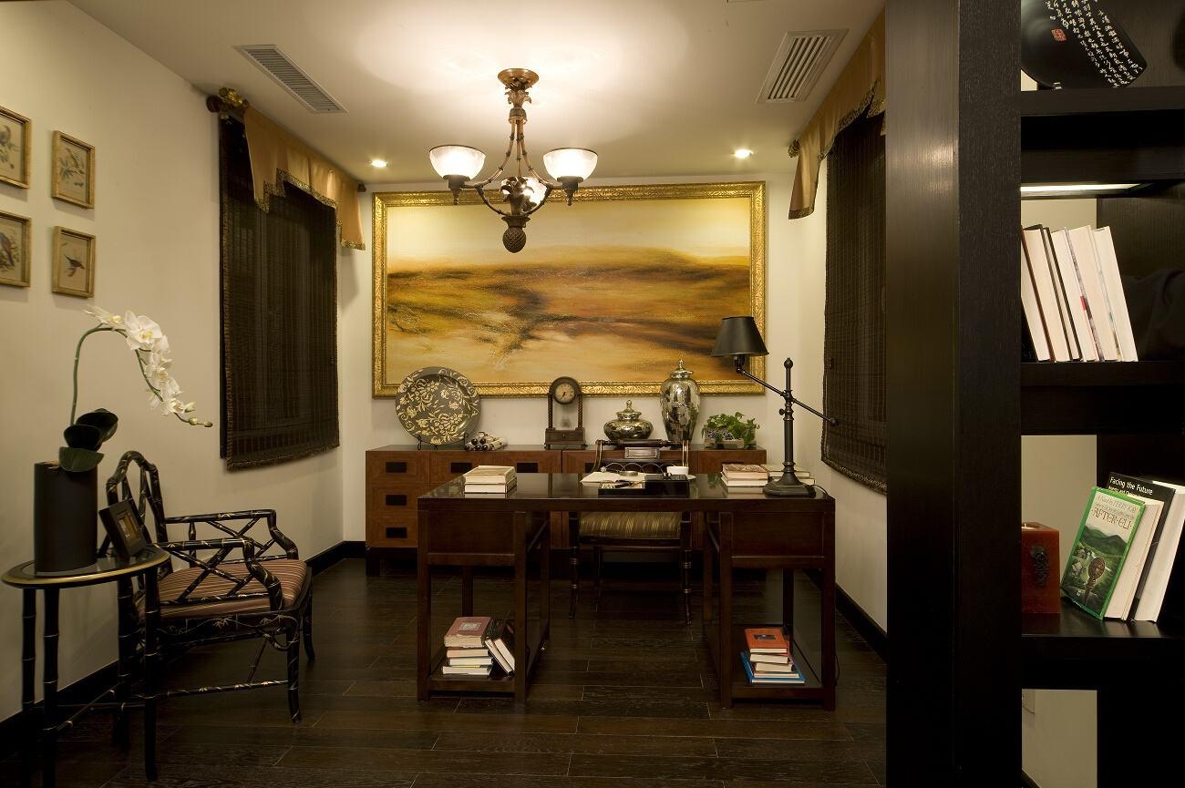 新古典书房相片墙效果图欣赏