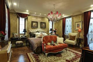 豪华欧式卧室背景墙效果图