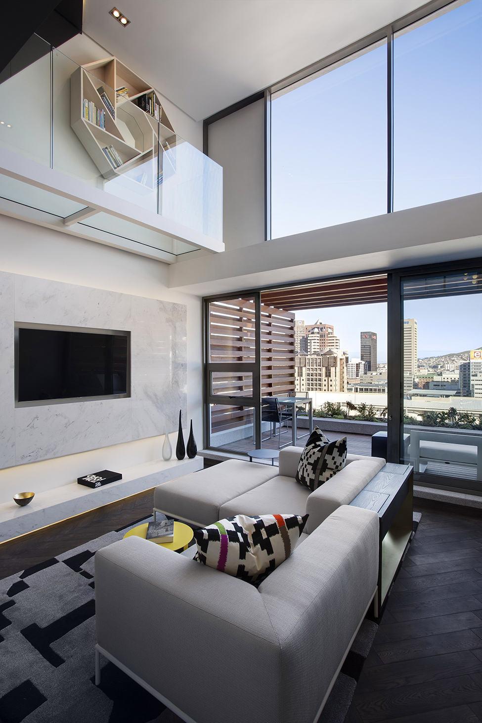后现代风格客厅隔断背景墙设计效果图
