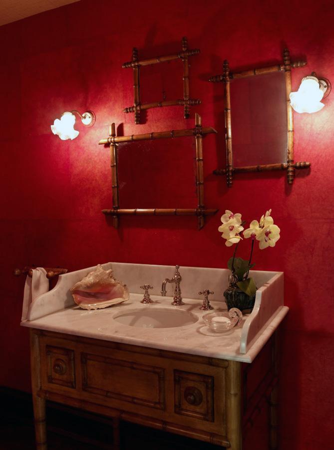 复古美式风格室内洗手间设计装潢图片