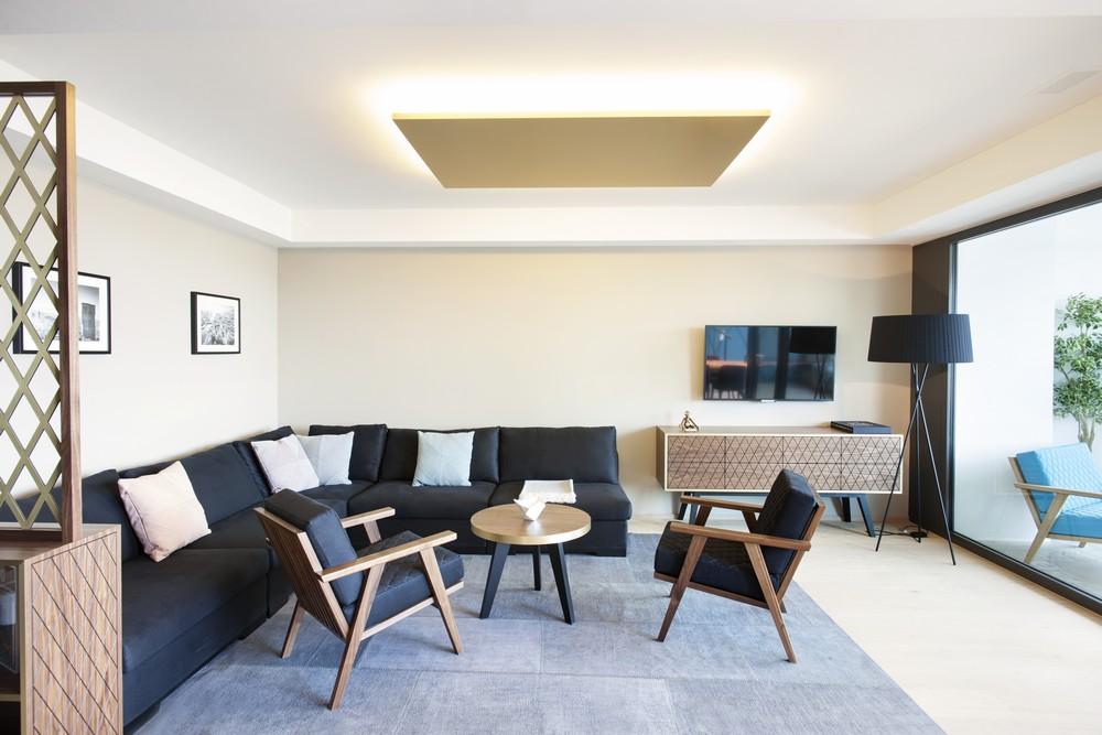 现代摩登时尚客厅沙发放置效果图