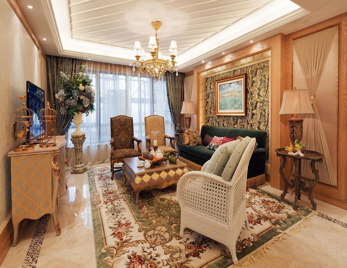 138平华丽欧式复古风三居室装修图片