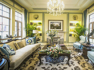 淡绿色点缀古典欧式别墅装修设计图