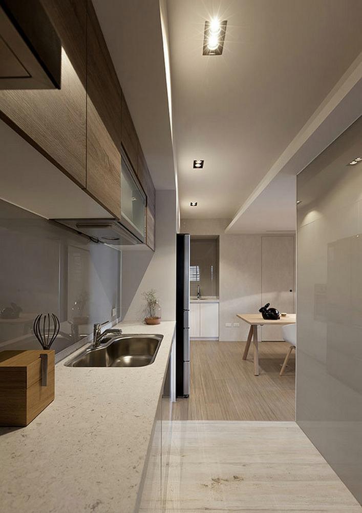 低调现代简约厨房橱柜效果图