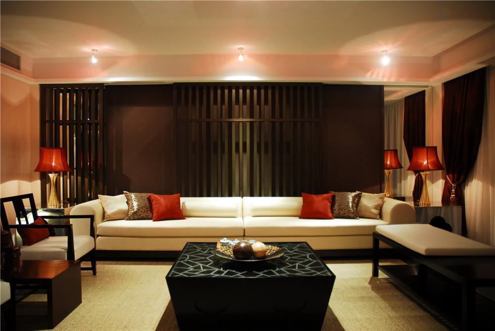 静谧东南亚风格三居家装设计效果图片