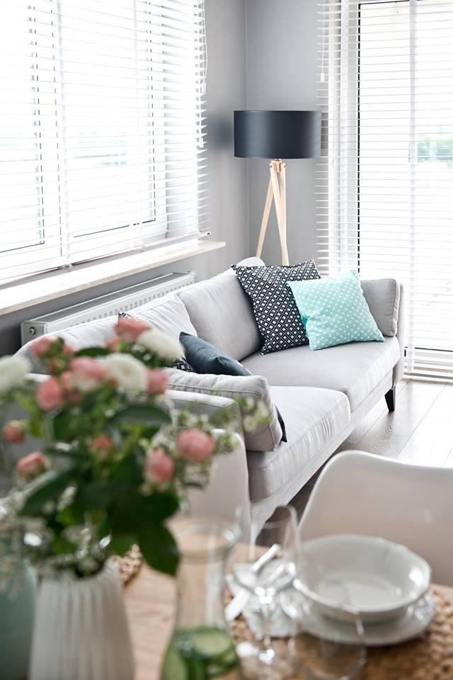 朴素北欧风格二居客厅双人沙发设计装修图例
