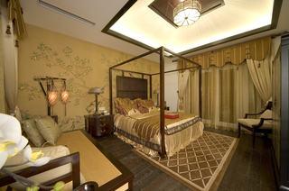 唯美中国画新古典卧室布置欣赏