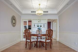 简约美式新古典餐厅四人圆桌效果图