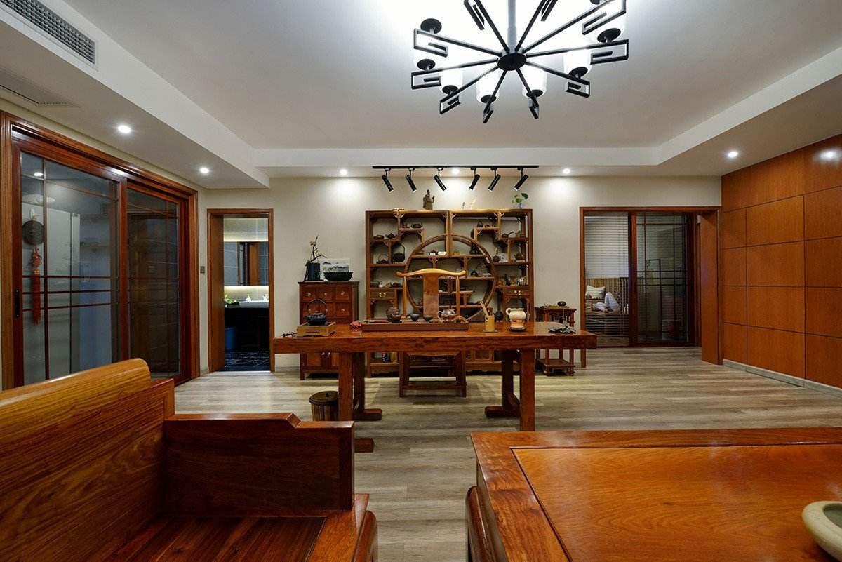明清红木中式书房博古架效果图