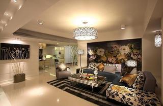 时尚新古典客厅吊顶设计效果图