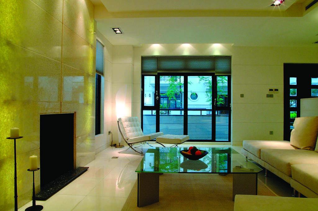 荧光绿个性简约风格客厅效果图