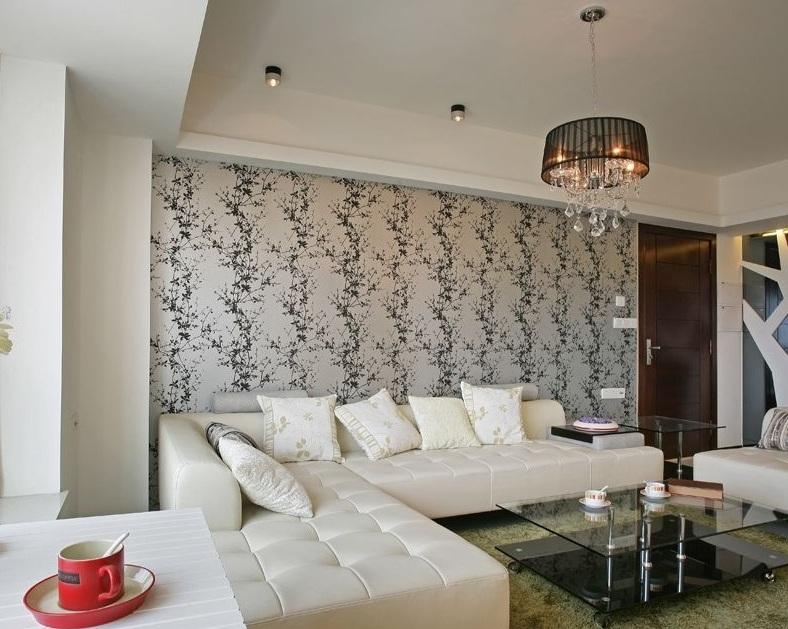 简洁时尚现代装修风格两居室设计效果图