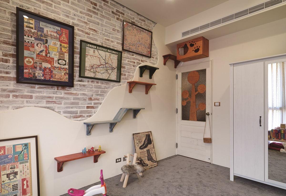 文化砖美式乡村风格儿童房照片墙效果图片