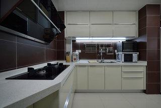 现代简约时尚厨房橱柜效果图