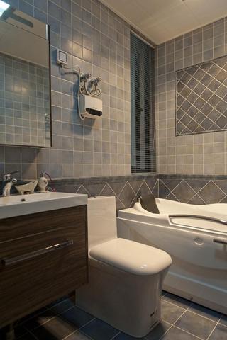 时尚马赛克瓷砖美式家装卫生间效果图