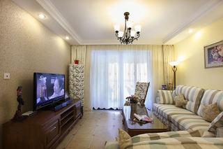 简朴田园风格公寓客厅设计装修效果图