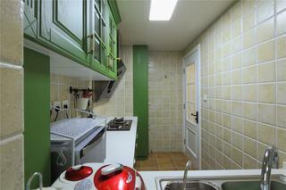 绿色清新美式小厨房橱柜设计