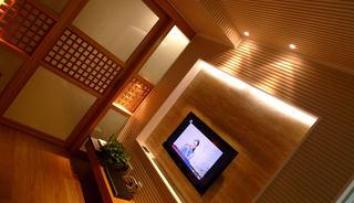 日式宜家客厅电视背景墙效果图