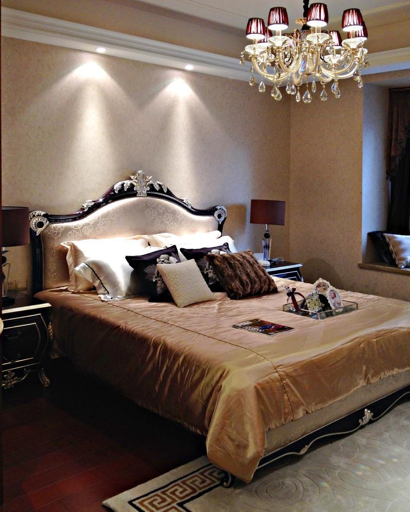 新古典欧式装修风格卧室床上用品装饰搭配效果图