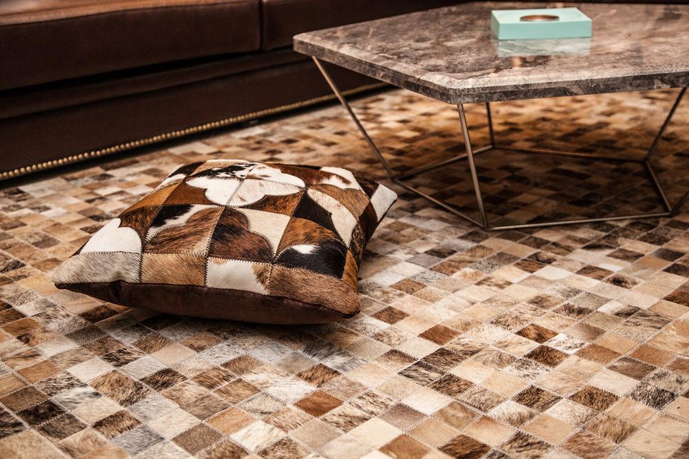 欧式豪华装修设计风格室内马毛皮地毯效果图
