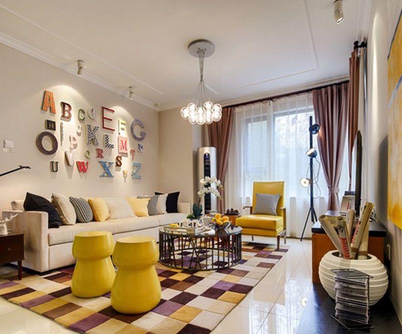 时尚现代装饰公寓客厅设计图片