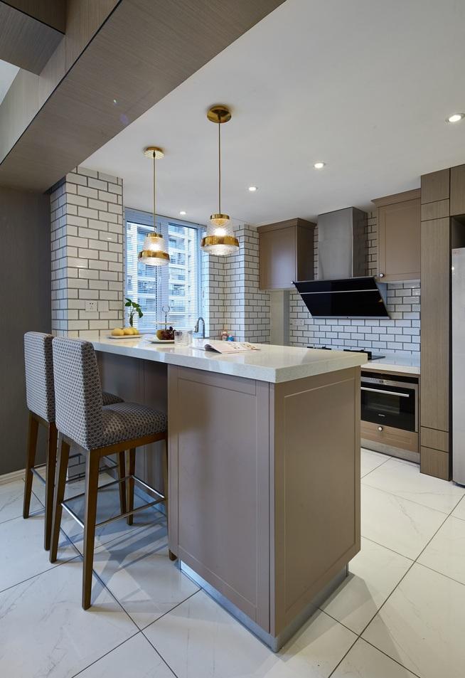 时尚前卫美式厨房吧台设计效果图片