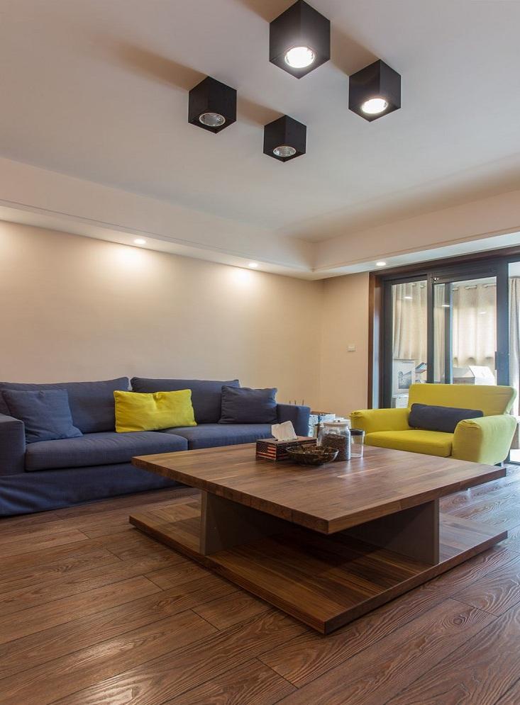 简约复古美式风格客厅沙发效果图