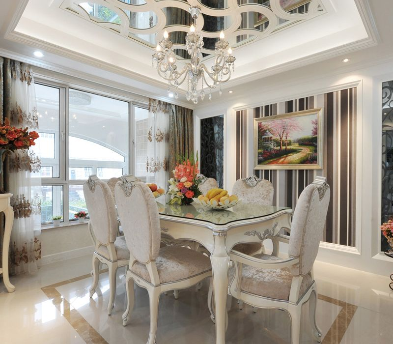 低奢现代欧式风餐厅室内设计装修效果图片