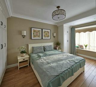 现代简约美式风格卧室照片墙效果图