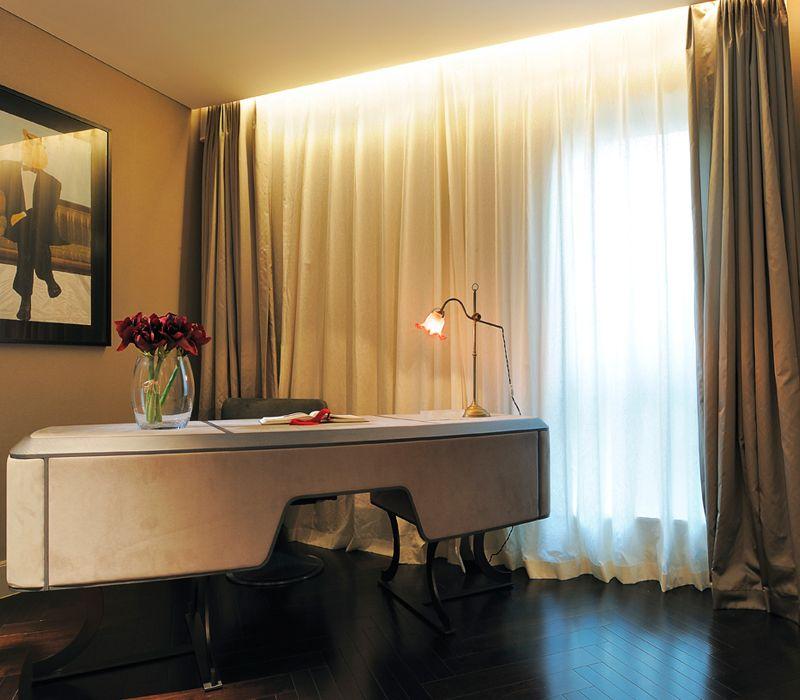 简约后现代家居书房窗帘设计图片