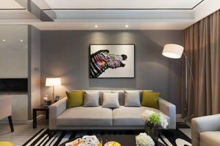 简约时尚现代感客厅相片墙效果图