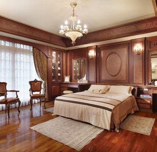典雅欧式别墅卧室背景墙效果图