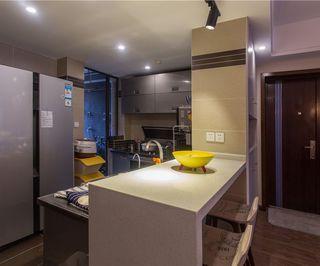 现代简约美式厨房吧台图片