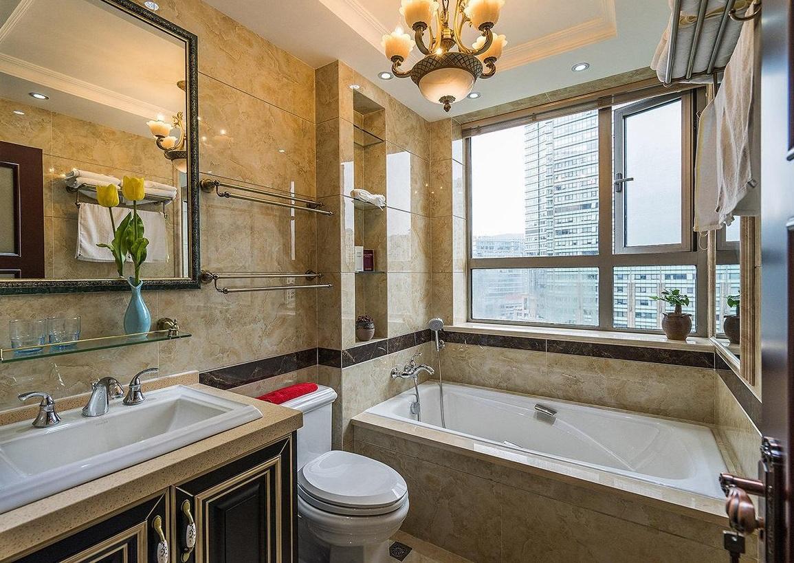 奢华欧式卫生间浴缸效果图片