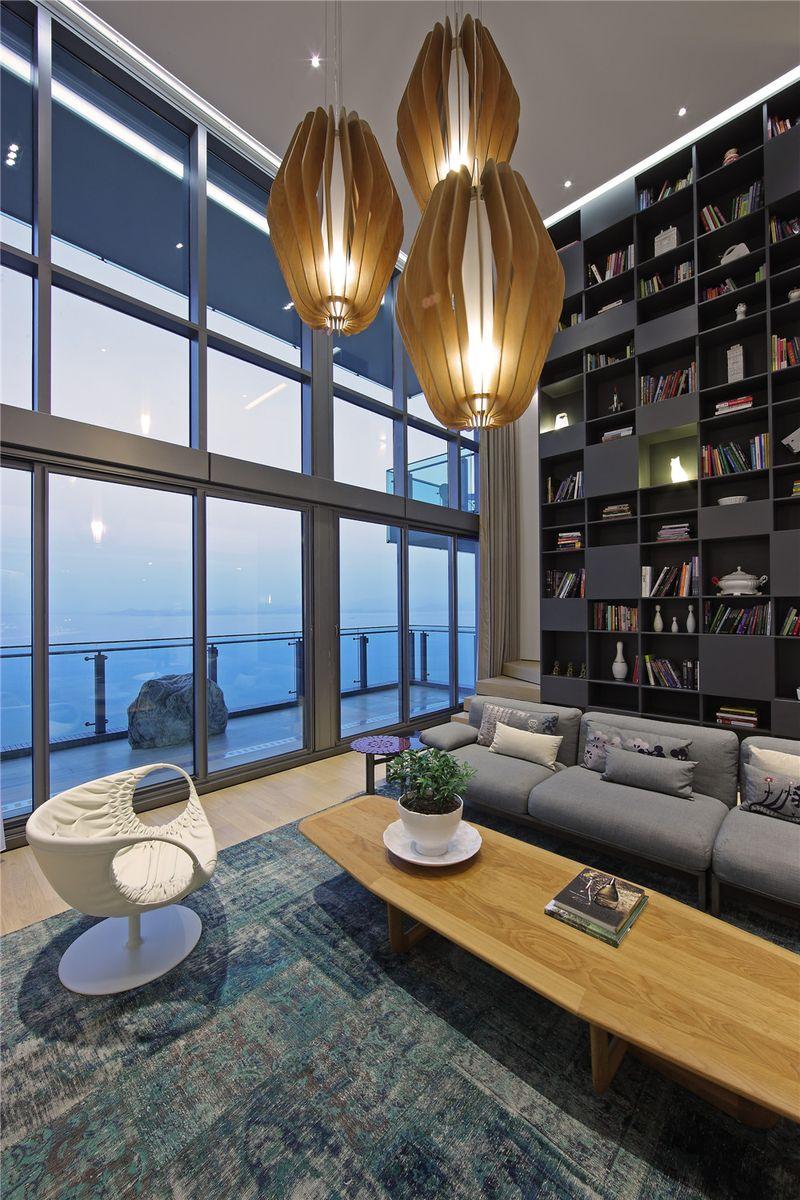 现代简约风格公寓室内装饰设计效果图