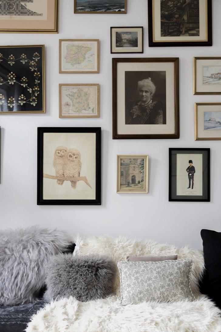混搭北欧风格白色照片墙设计效果图