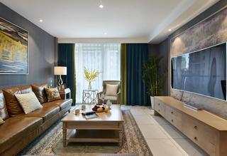 美式后现代风格三居室设计效果图片