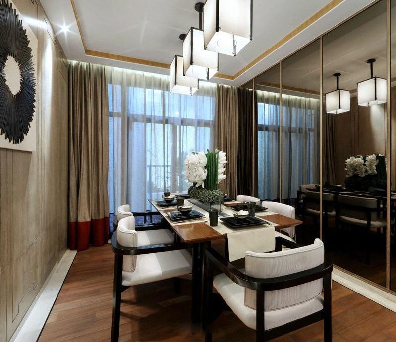 低奢新古典室内餐厅设计装修效果图