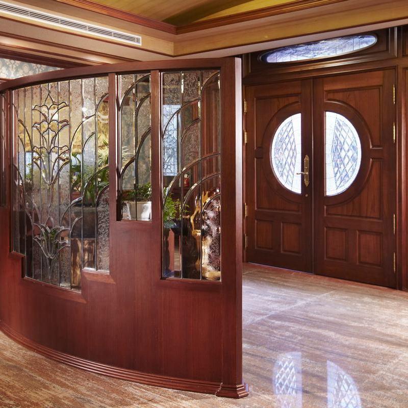 古典中式室内屏风隔断效果图