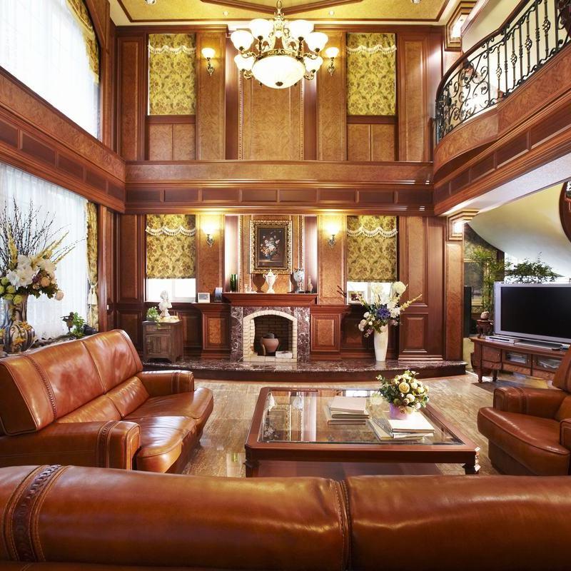 古典实木欧式别墅室内装修效果