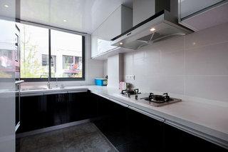 黑色后現代風格廚房櫥柜效果圖